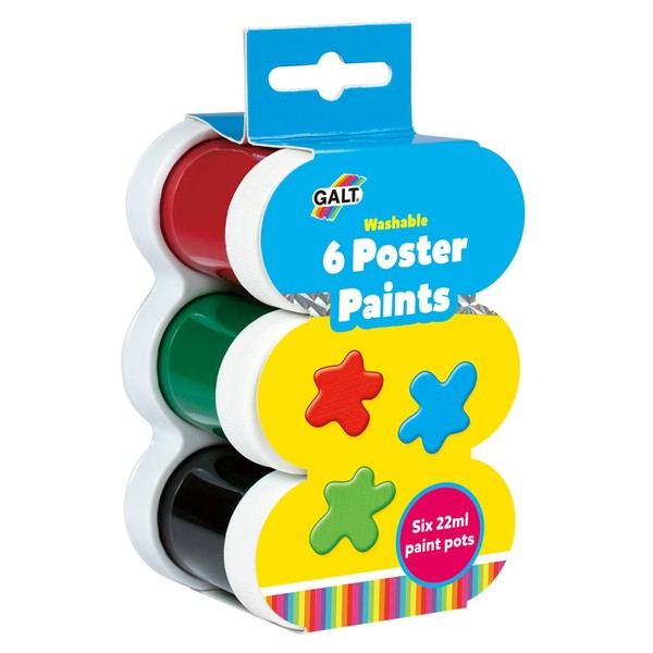 Large fun junction toy shop crieff perth perthshire scotland galt poster paints paint 22ml tubs blue yellow red green black white for 3 three years and up