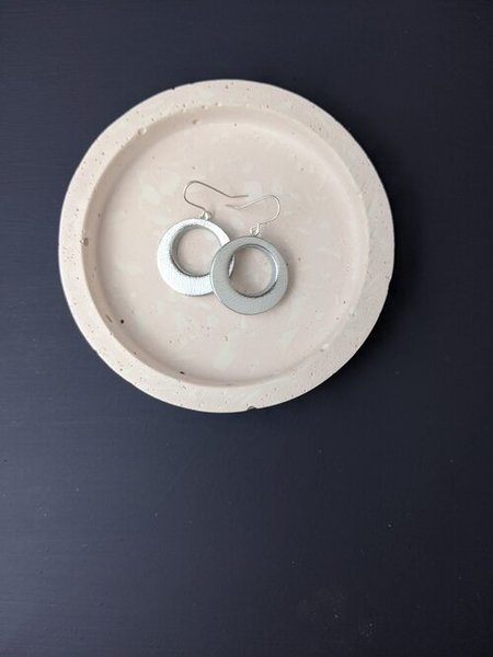 Large km small hoop  silver