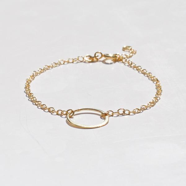 Large 114. gold hoop bracelet