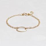 Small 114. gold hoop bracelet