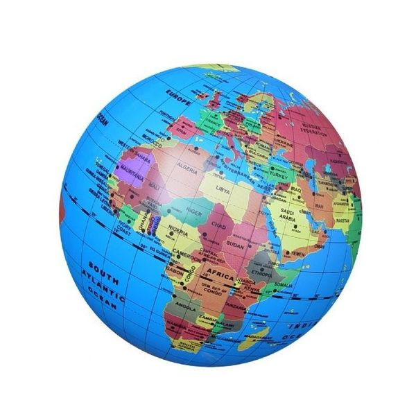 Large 30cm inflatable globe brainstorm toys blow up educational beach ball