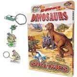 Small dinosaurs shrinkles shrinkies shrinks heat in oven colour in colouring