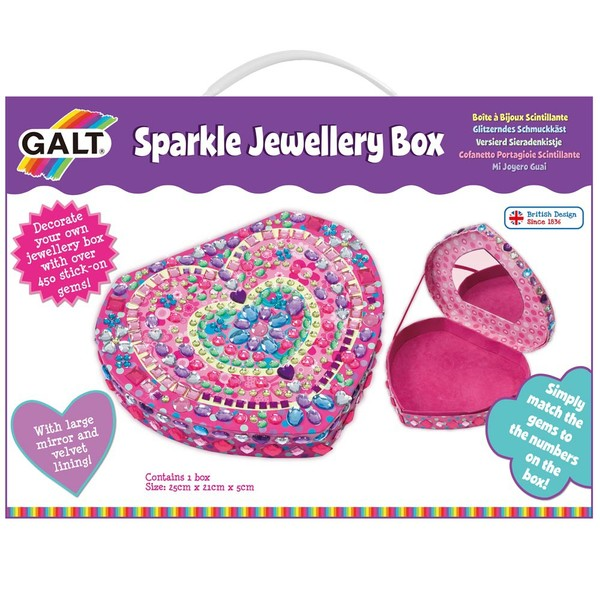Large fun junction toy shop crieff perth perthshire scotland galt craft set sparkle jewlery jewellery box make your own