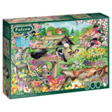 Small falcon spring garden birds 500pc jigsaw puzzle