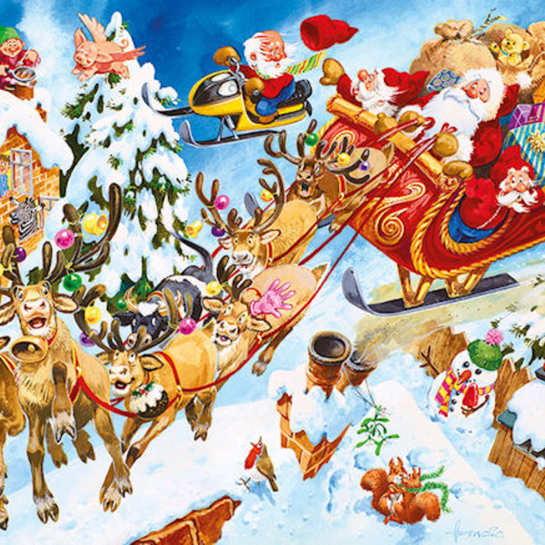 Large spot the sillies crazy christmas hidden picture jigsaw puzzle five 5 years and up
