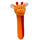 Small fiesta crafts squeakaboo giraffe rattle soft toy squeaker from birth onwards