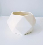 Small white hexagon jacklaverick pot