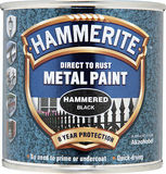 Small hammerite metal paint hammered 250ml black tape