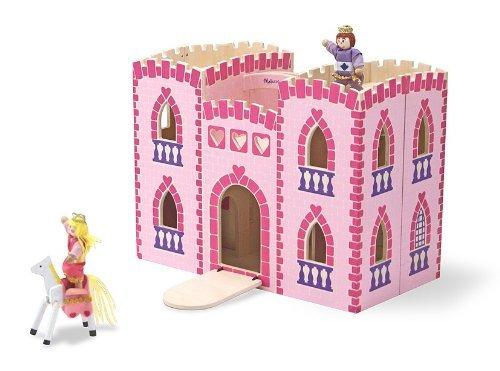 Large melissa and doug fold castle pink
