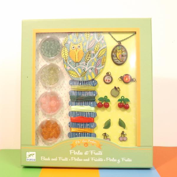 Large dj c beads and fruits jewellery making set