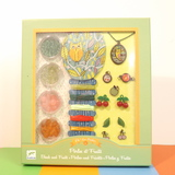 Small dj c beads and fruits jewellery making set