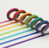 Small rainbow washi mt tape blink