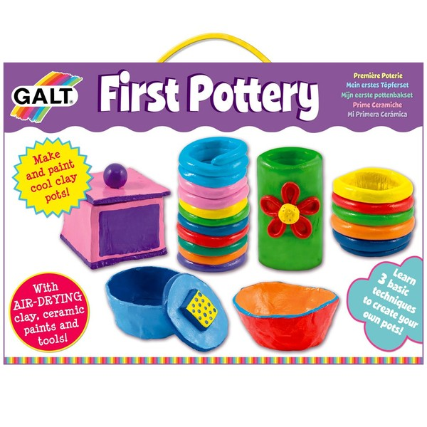 Large galt craft set first pottery clay suitable for children aged 6 six years and up