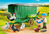 Small playmobil fun junction toy shop perth crieff perthshire scotland play sets imaginative play chicken coop 70138 wagon barrow trailer