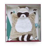 Small kaloo fun junction toy shop perth crieff perthshire scotland doudou leon the raccoon 20 cm 7.9 inch inches blankie blanket 4895029627996
