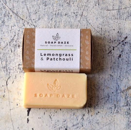 Large lemongrass and patchouli handmade vegan natural soap 540x
