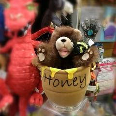 Medium_puppet_company_bear_bee_and_honey_pot_hide_away_hideaway_puppet