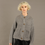 Small nywkn113 ellie grey cardigan