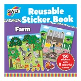 Small galt reusable sticker book farm