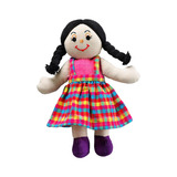 Small rag doll girl white skin dark black hair cotton lanka kade fair trade toy toys natural fun junction toy shop stop store crieff perth perthshire scotland