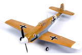 Small fs0078d fms mini bf 109 messerschmitt 800 series rtf electric warbird with 2.4ghz radio system  2  1816 p