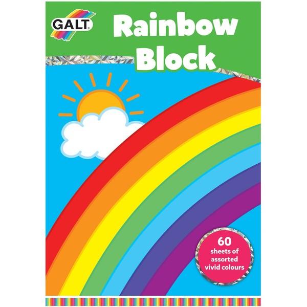 Large fun junction crieff perth perthshire scotland galt rainbow block large paper sheet pack colouring colour