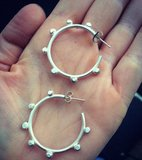 Small ferris hoops silver frenzy