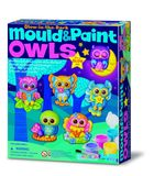 Small mould and paint glow owls