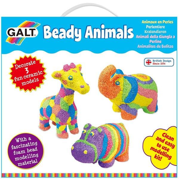 Large fun junction galt craft kit beady animals ceramic animals for children kids floam