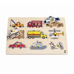 Medium_hape_wooden_peg_puzzle_emergency_vehicles_police_fire_ambulance