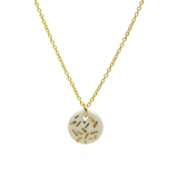 Small 1958 porc gold dash necklace