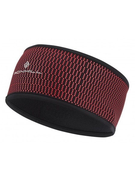 Large wind block headband red