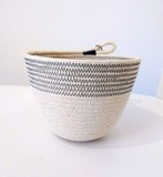 Small large rope planter rubycubes dkgrey