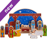 Small nativity set building christmas manger jesus mary joseph lanka kade fair trade toy toys wooden wood natural fun junction toy shop stop store crieff perth perthshire scotland 3