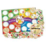 Small auntie pasta s fraction game learning resources pizza quarters thirds halves
