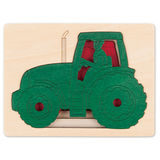Small george luck five tractors wooden puzzle tractor farmer countryside farm life hape fun junction toy shop crieff perth perthshire scotland
