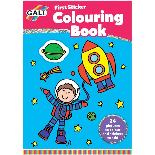 Large first sticker colouring book for children aged 3 three years and up