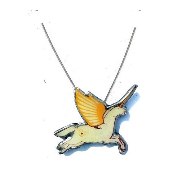 Large unicorn necklace