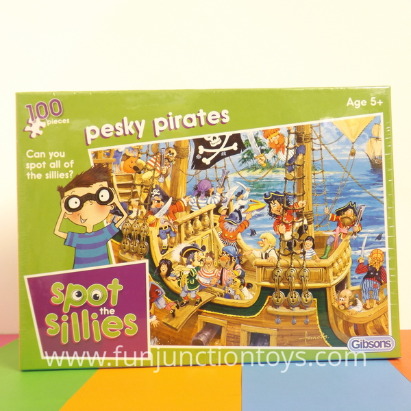 Large gbs ss  pesky pirates spot the sillies gibsons puzzles  w