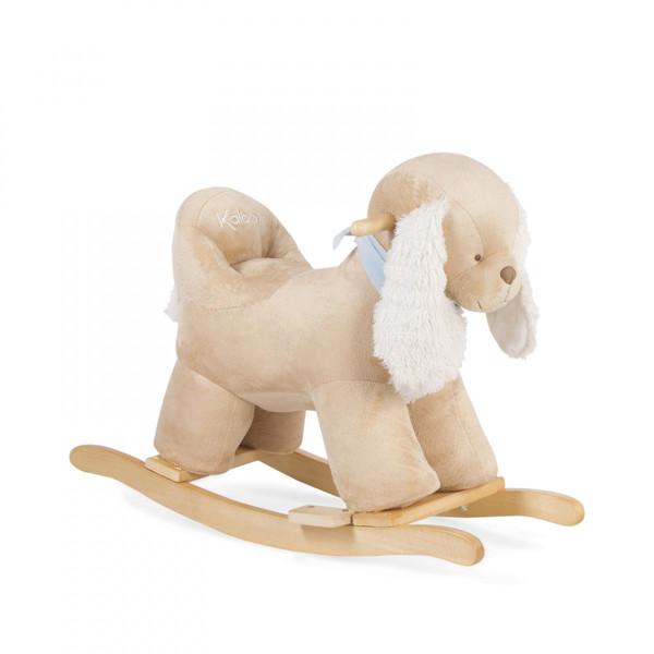 Large kaloo fun junction toy shop perth crieff perthshire scotland soft toy les amis rocking caramel dog ride on rocking rocker horse 4895029627651
