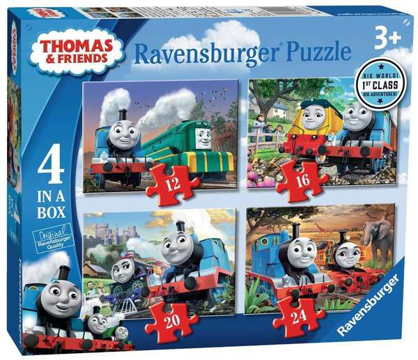 Large ravensburger fun junction toy shop perth crieff perthshire scotland jigsaw puzzle jig saw thomas   friends 4 in a box big world adventures 4005556069712