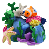 Small fun junction toy shop crieff perth perthshire scotland puppet company co hide away puppet sea creatures sealife fish animals finger puppets with octopus starfish clownfish dolphin coral corral