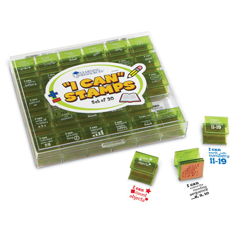 Large learning resources i can stamps learning milestones teachers teacher s resource stamp ink