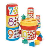 Small battat sort and stack shape sorter number bucket cups for 18 eighteen months and up baby and toddler