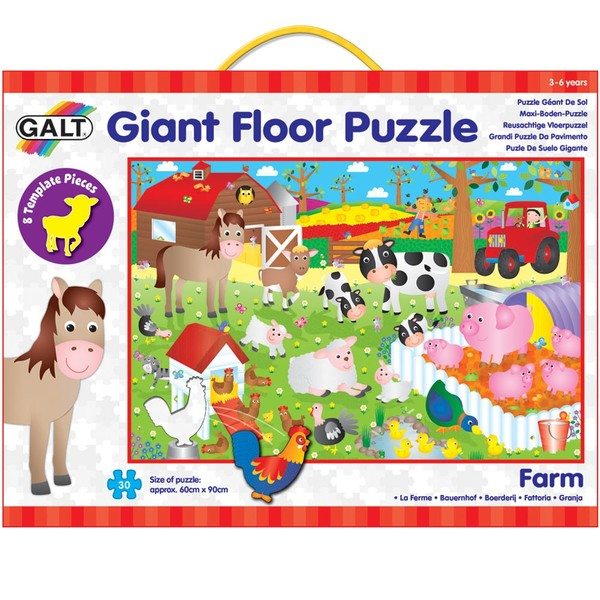 Large fun junction independent toy shop creiff perth perthshire scotland galt jigsaw puzzle giant floor puzzle farm theme tractor horse pigs chickens sheep