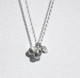 Small salcombe seashells necklace silver