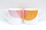 Small orange pink blink mug raw