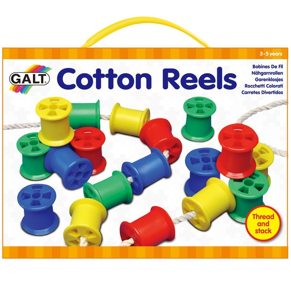 Large fun junction independent toy shop crieff perth perthshire scotland galt cotton reels threading lacing fine motor toy