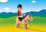 Small playmobil fun junction toy shop perth crieff perthshire scotland play sets imaginative play early years 123 1.2.3 equestrian with horse 6973