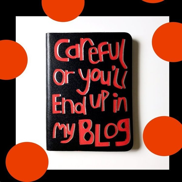 Large blog notebook blackbook writer present